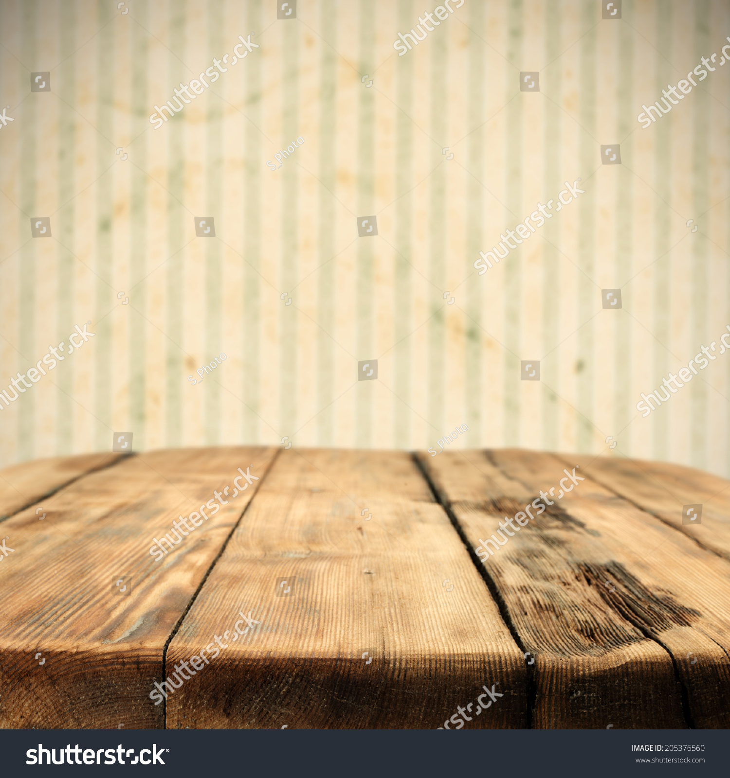 Old Table Wood Wallpaper Space Free Stock Photo 205376560