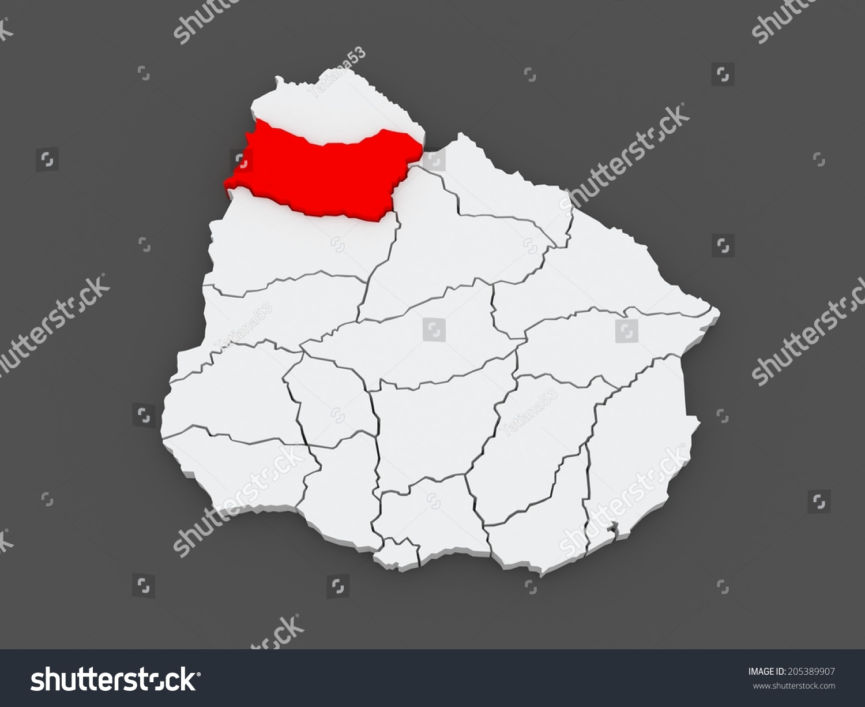 Map Salto Uruguay 3d Stock Illustration 205389907 Shutterstock
