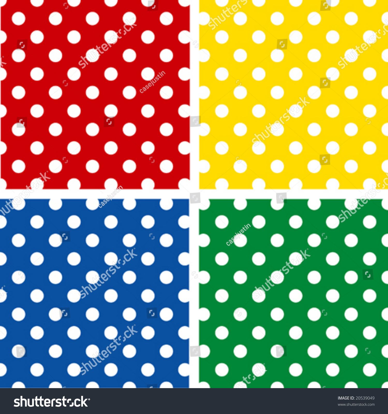 Seamless patterns white polka dots on stock vector for Red and white polka dot pattern