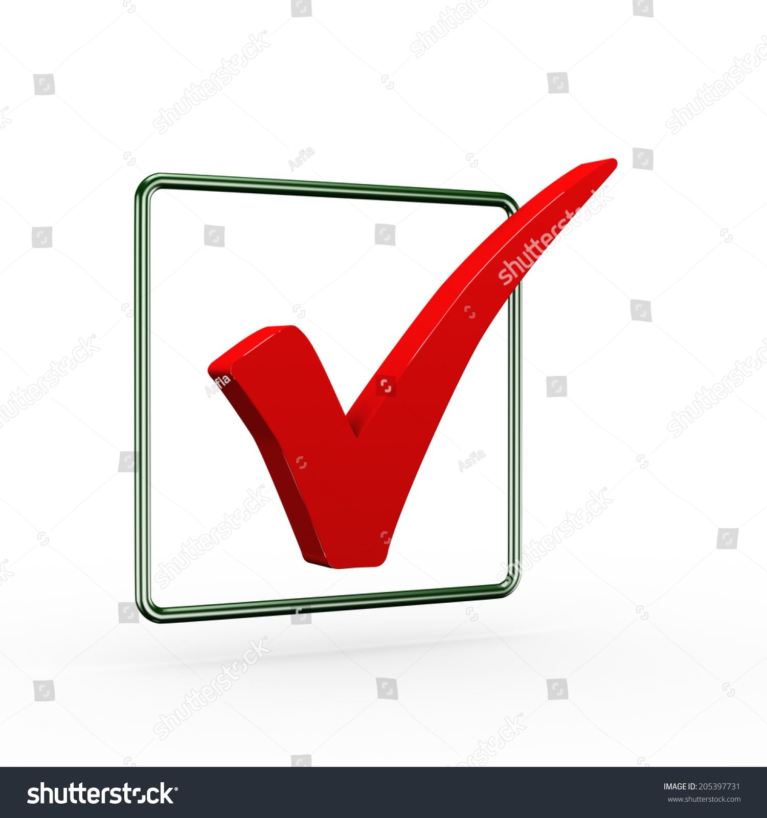 3d Illustration Of Red Right Tick Check Mark Symbol Ez Canvas