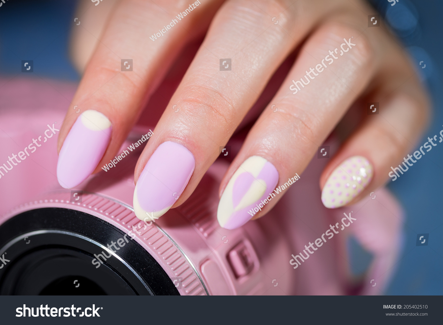 Long Curved Nails After Manicure Pink Stock Photo & Image (Royalty ...
