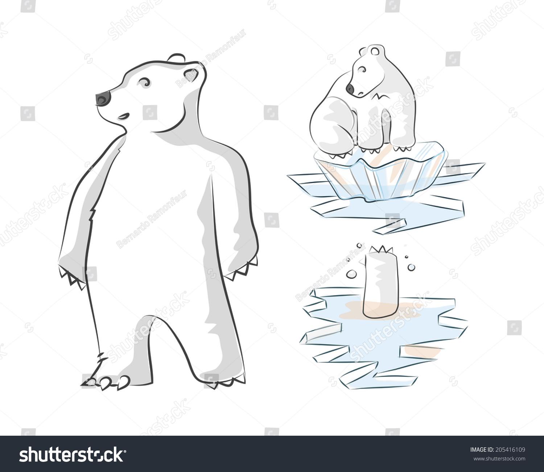 Global Warming Promo 4 Polar Bear Stock Vector (Royalty Free ...