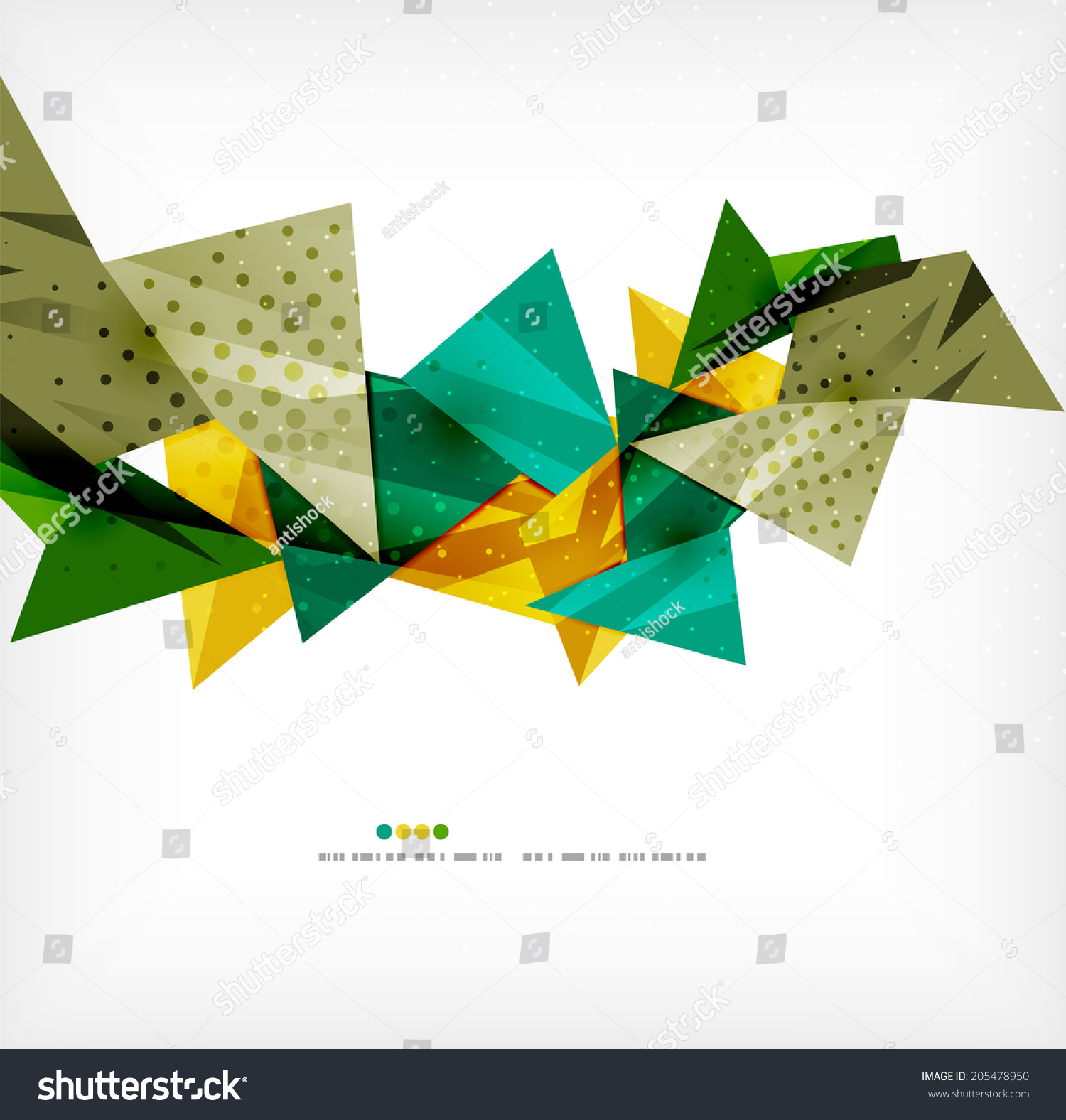 Vector 3d Geometric Shape Abstract Futuristic Stock Vector