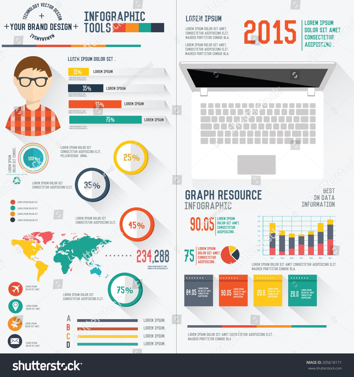 user design resume info graphic design on white background