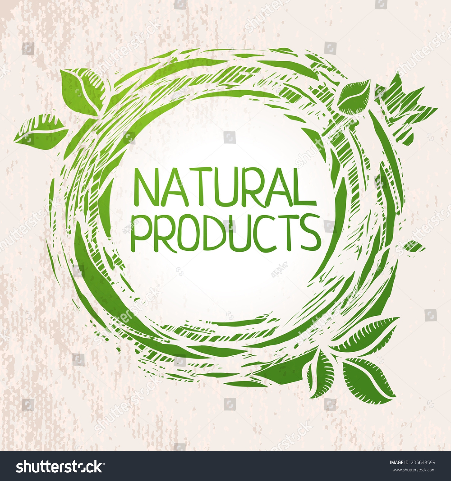 Nature Product Label Background