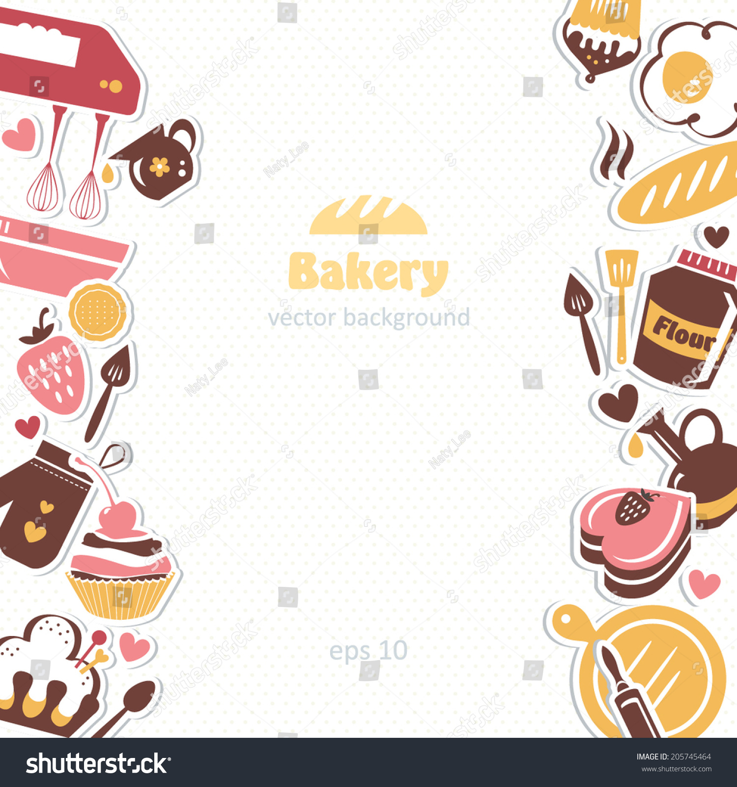 bakery background stock vector 205745464 shutterstock cupcake clipart free black and white cupcake clip art free cartoon