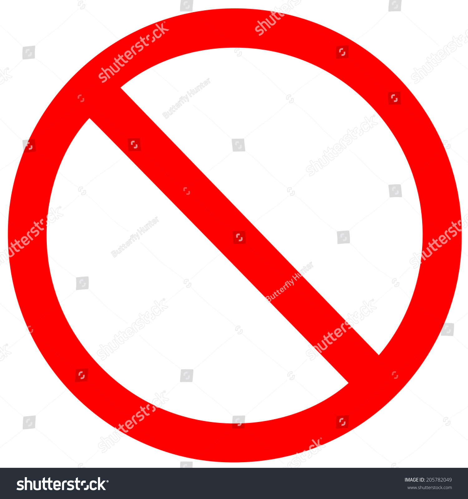 No Sign Vector On White Background Stock Vector 205782049 ...