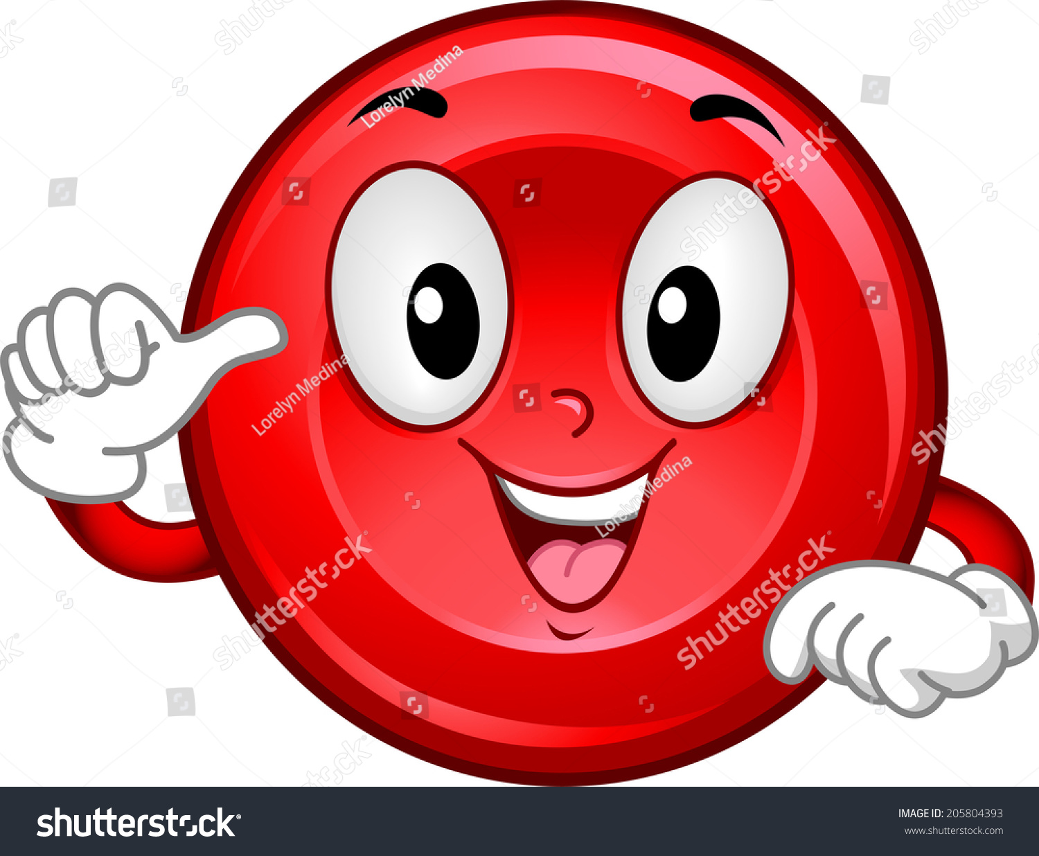 Mascot Illustration Featuring Smiling Red Blood Stock ...
