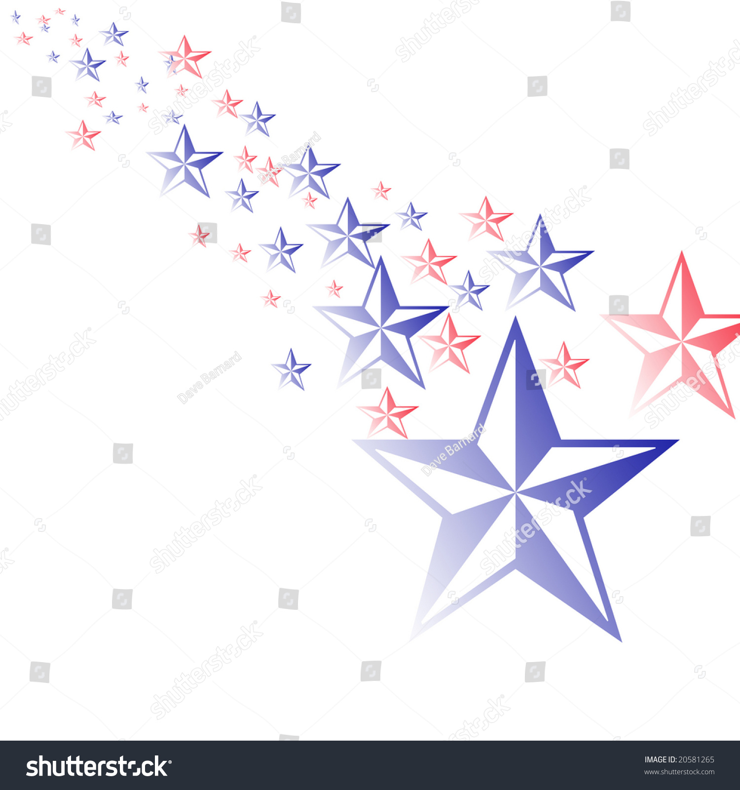 Red White And Blue Stars Illustration - 20581265 ... - photo#13
