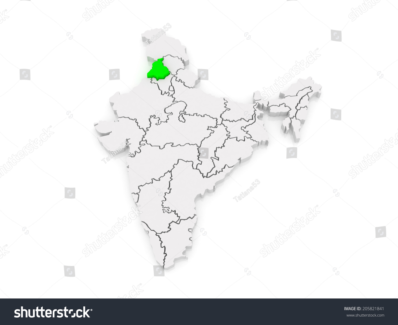 Map punjab india 3d stock illustration 205821841 shutterstock map of punjab india 3d buycottarizona Gallery