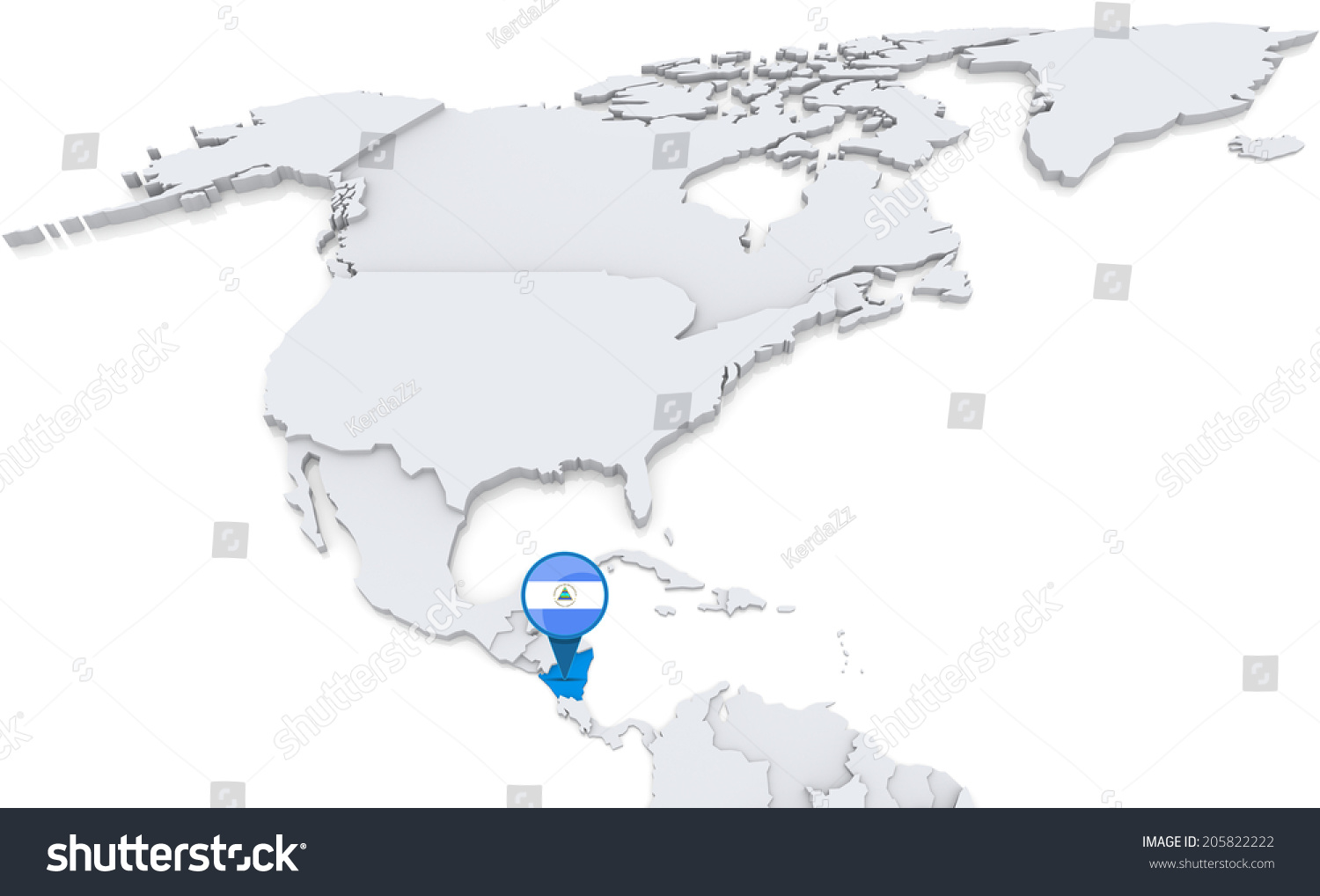 Highlighted nicaragua on map north america stock illustration highlighted nicaragua on map north america stock illustration 205822222 shutterstock gumiabroncs Images