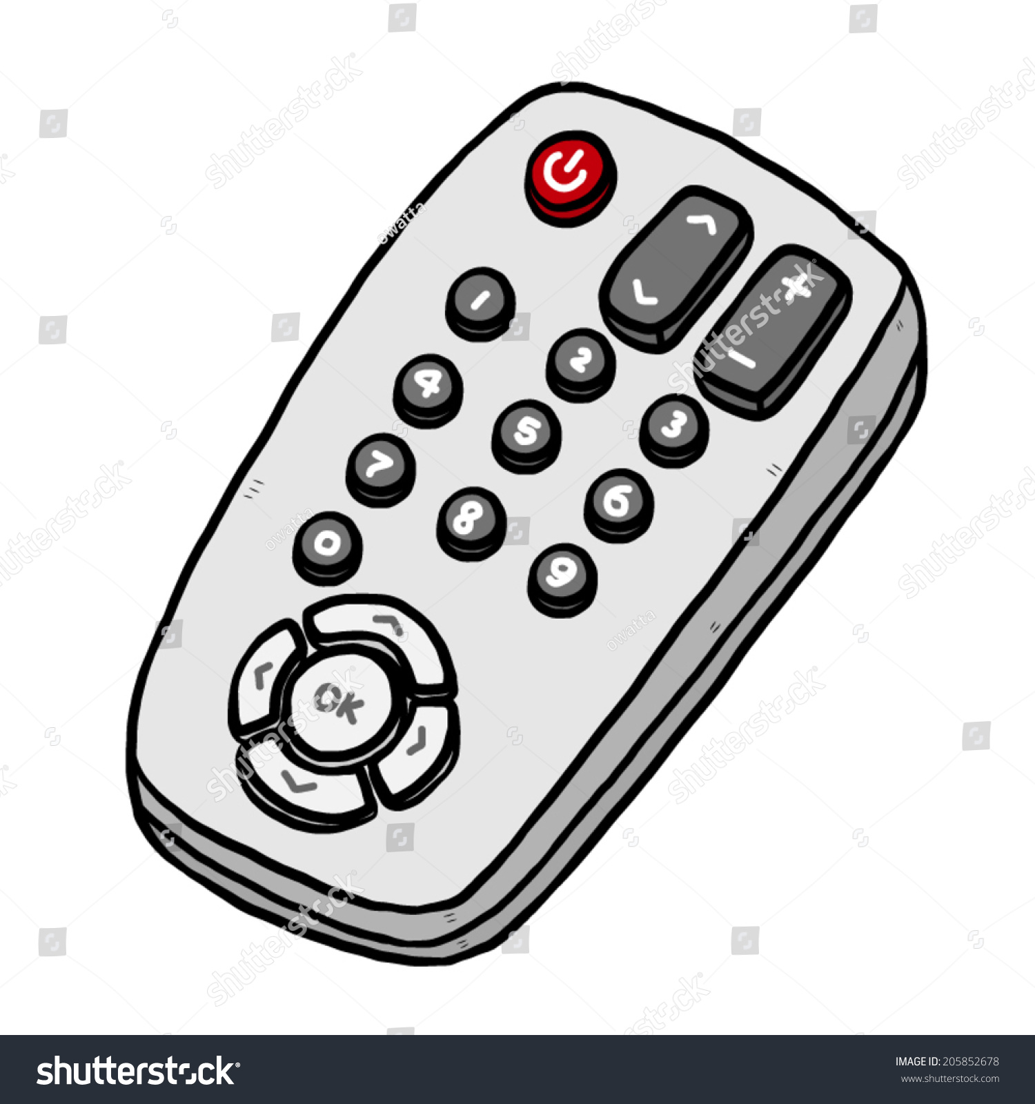 tv remote cartoon vector and illustration hand drawn