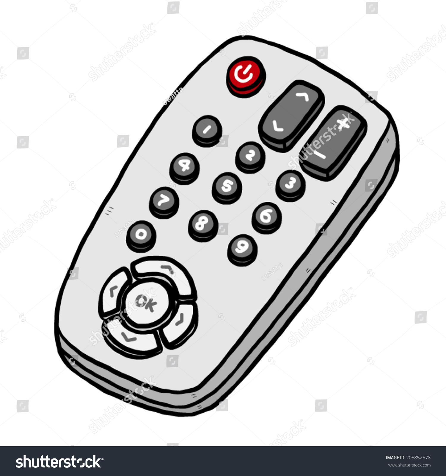 tv remote cartoon vector illustration hand stock vector