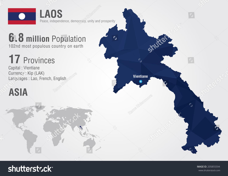 Picture of: Vector De Stock Libre De Regalias Sobre Laos World Map Pixel Diamond Texture205855594