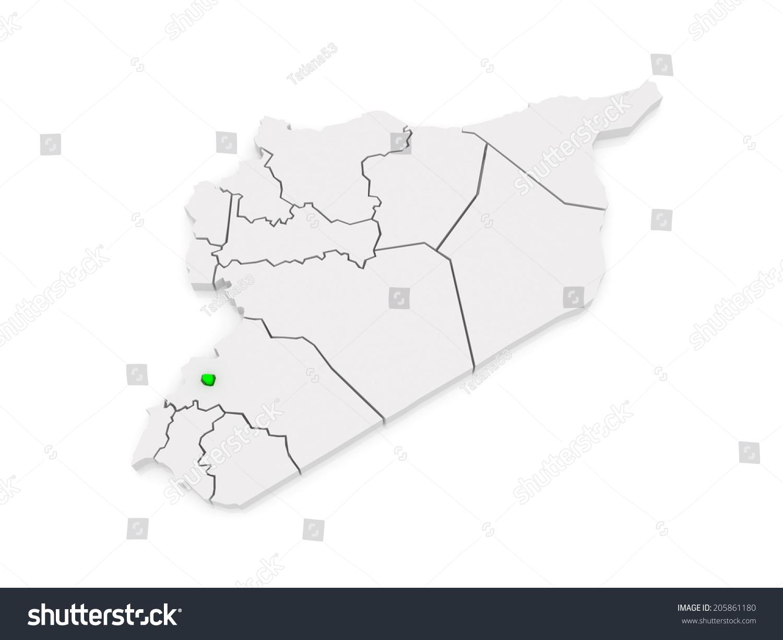 Map Damascus Syria 3 D Stock Illustration 205861180 - Shutterstock