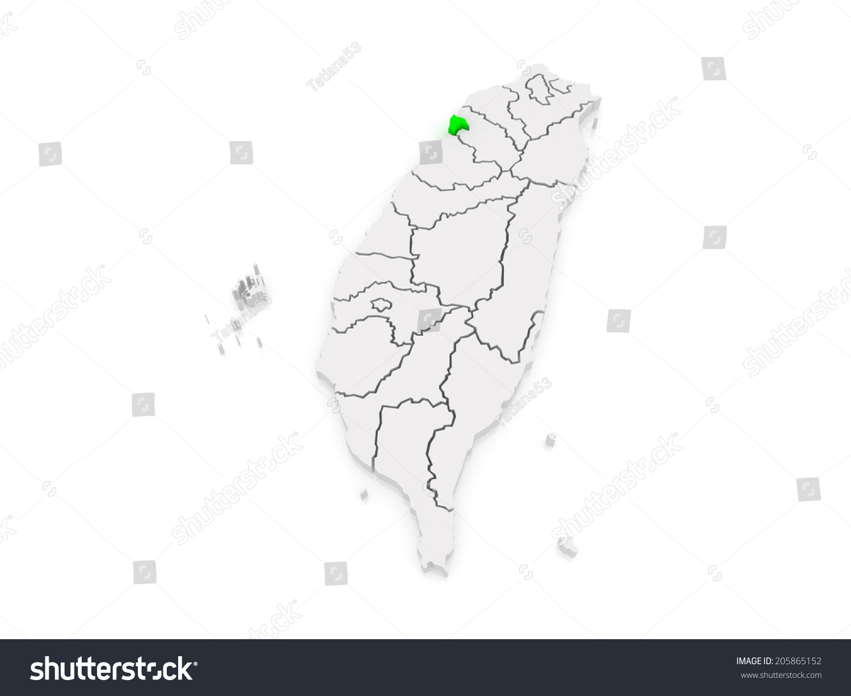 Map Hsinchu City Taiwan 3 D Stock Illustration 205865152 - Shutterstock