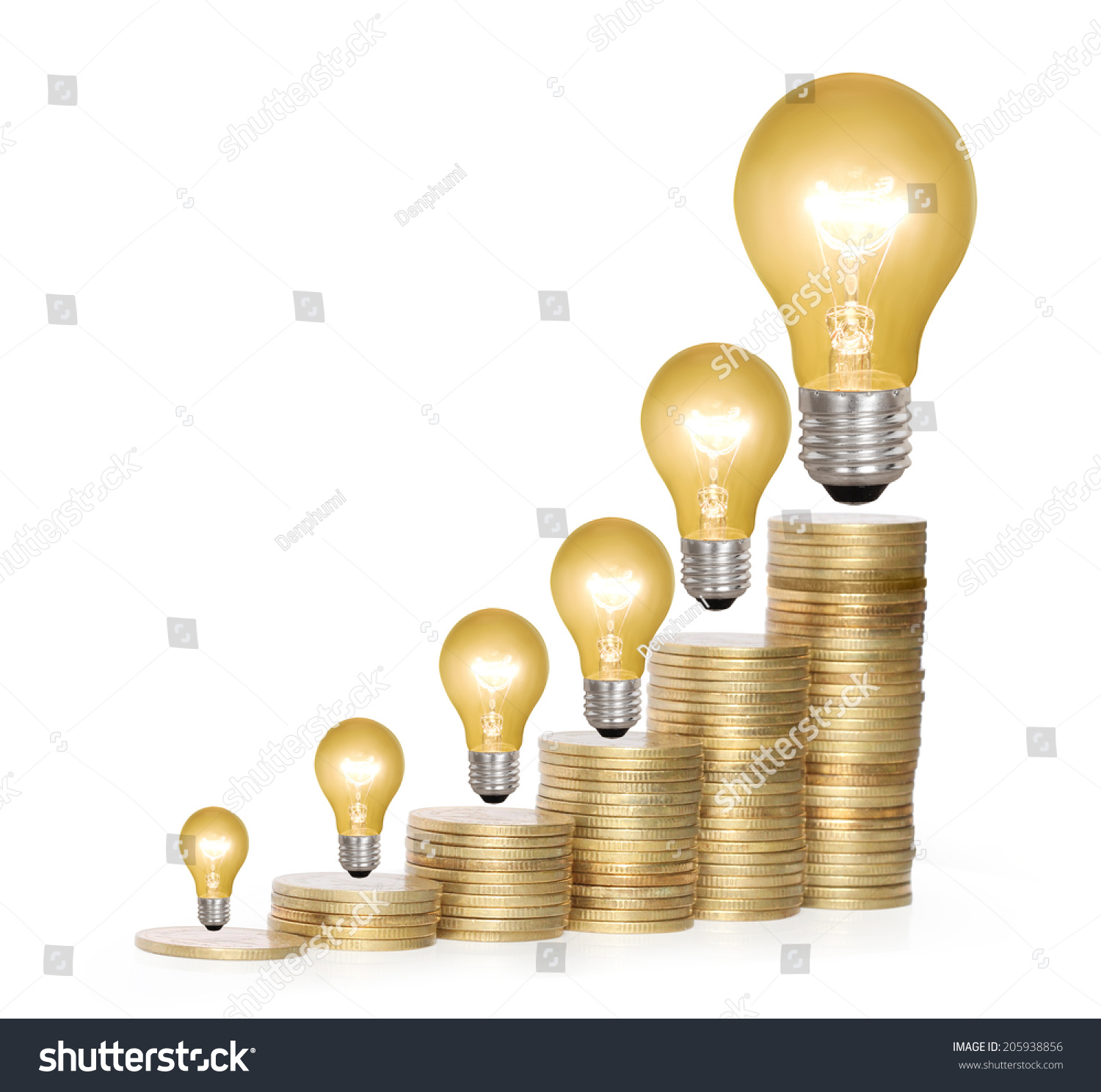 Money saved different kinds light bulbs stock photo 205938856 money saved in different kinds of a light bulbs arubaitofo Images