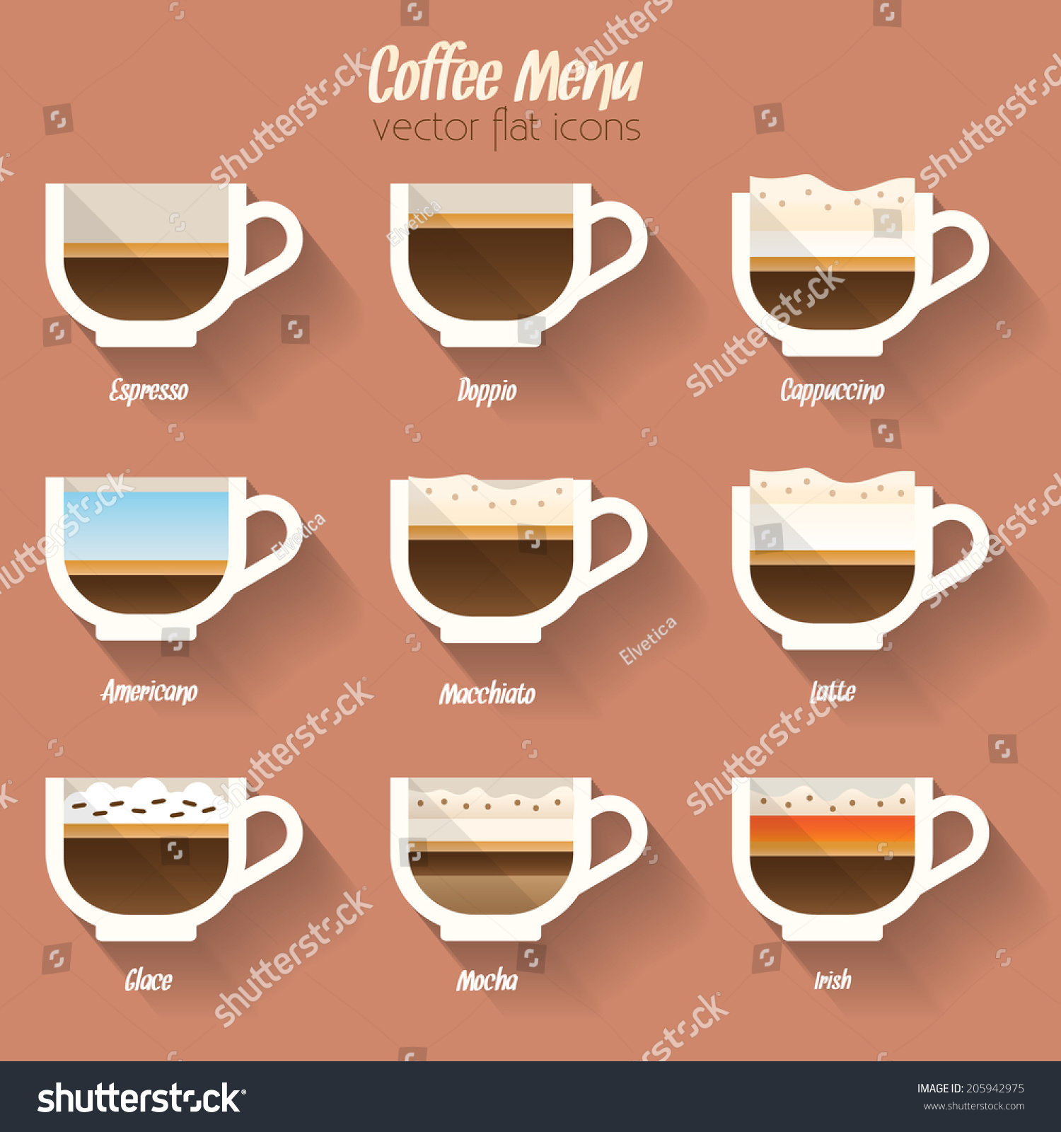 Coffee Menu Icon Set. Buttons For Web And Apps. Coffee