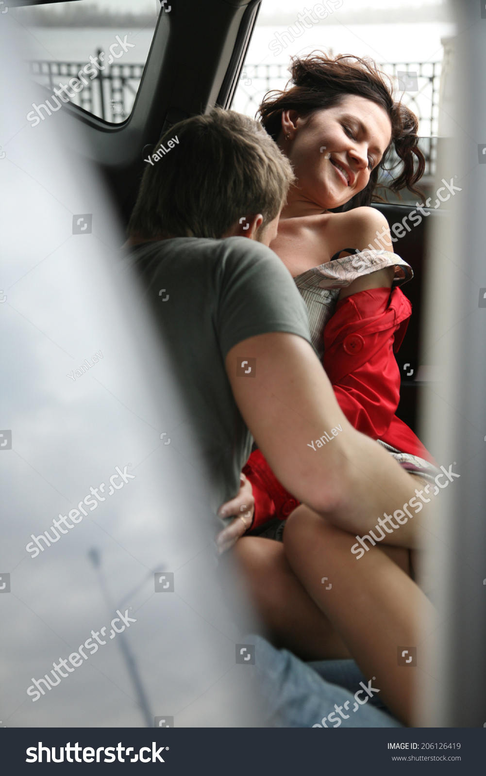 young lovers having sex car stock photo (royalty free) 206126419