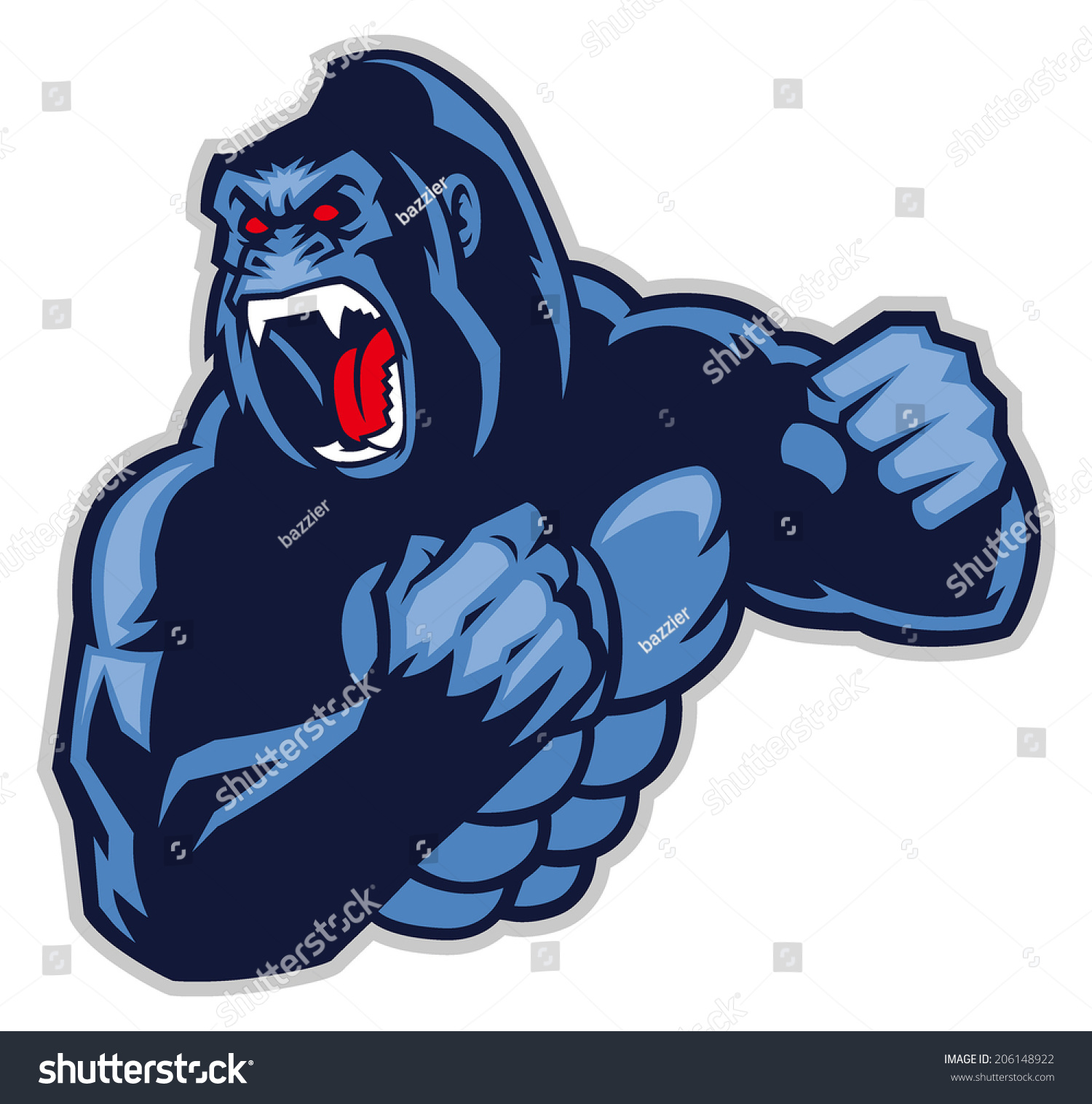 Angry Gorilla Stock Images, Royalty-Free Images & Vectors ...