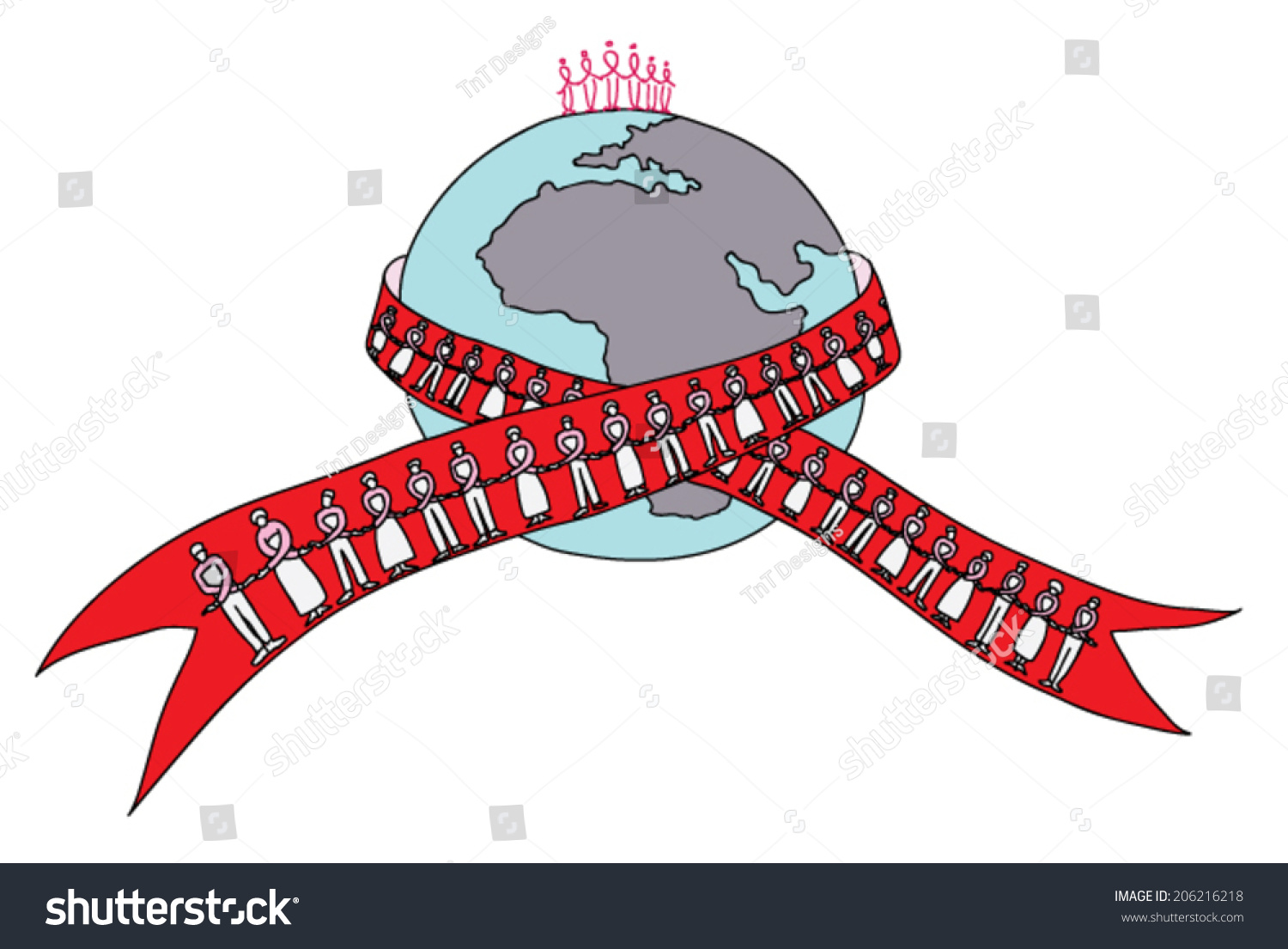 Hiv Aids Awareness Campaign Featuring Earth Stock Vector Hd Royalty