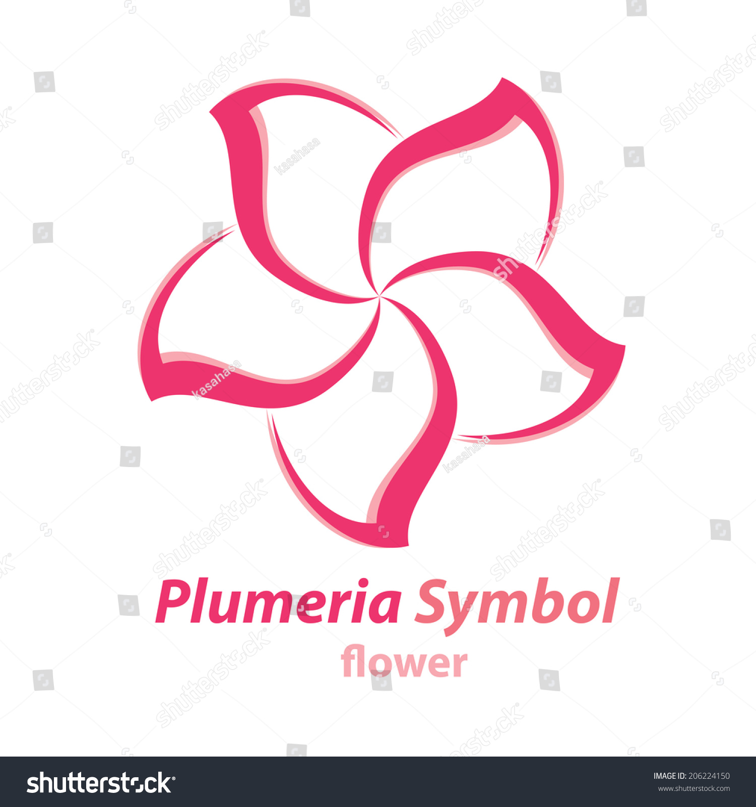 Vector Plumeria Frangipani Flower Symbol Icon Logo Template Design 20