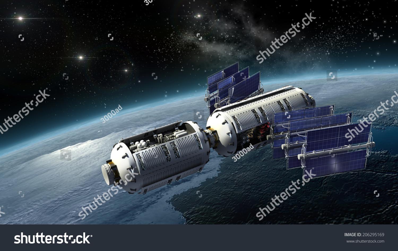 Royalty Free Stock Illustration Of Satellite Surveying Earth