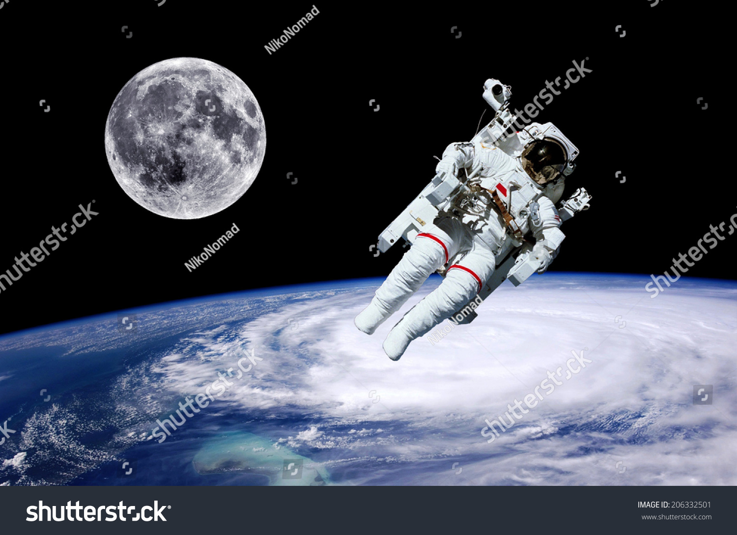 astronaut on moon earth background - photo #21