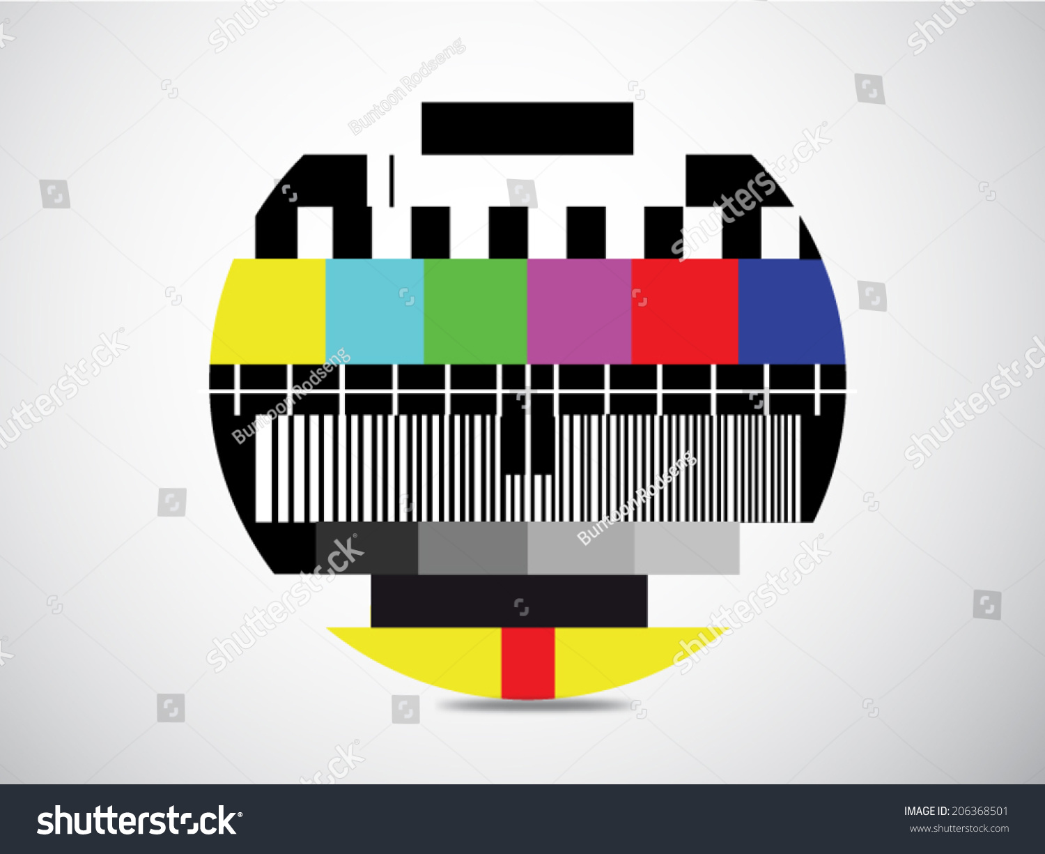 Test Tv Screen Background When Channel Stock Vector