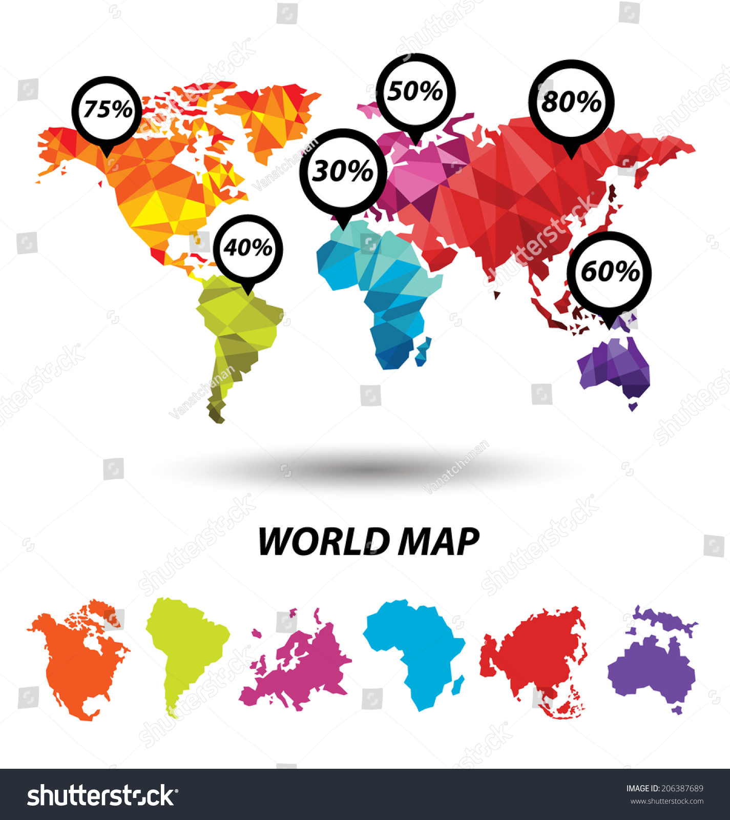 World map geometric concept design stock vector hd royalty free world map geometric concept design gumiabroncs Images
