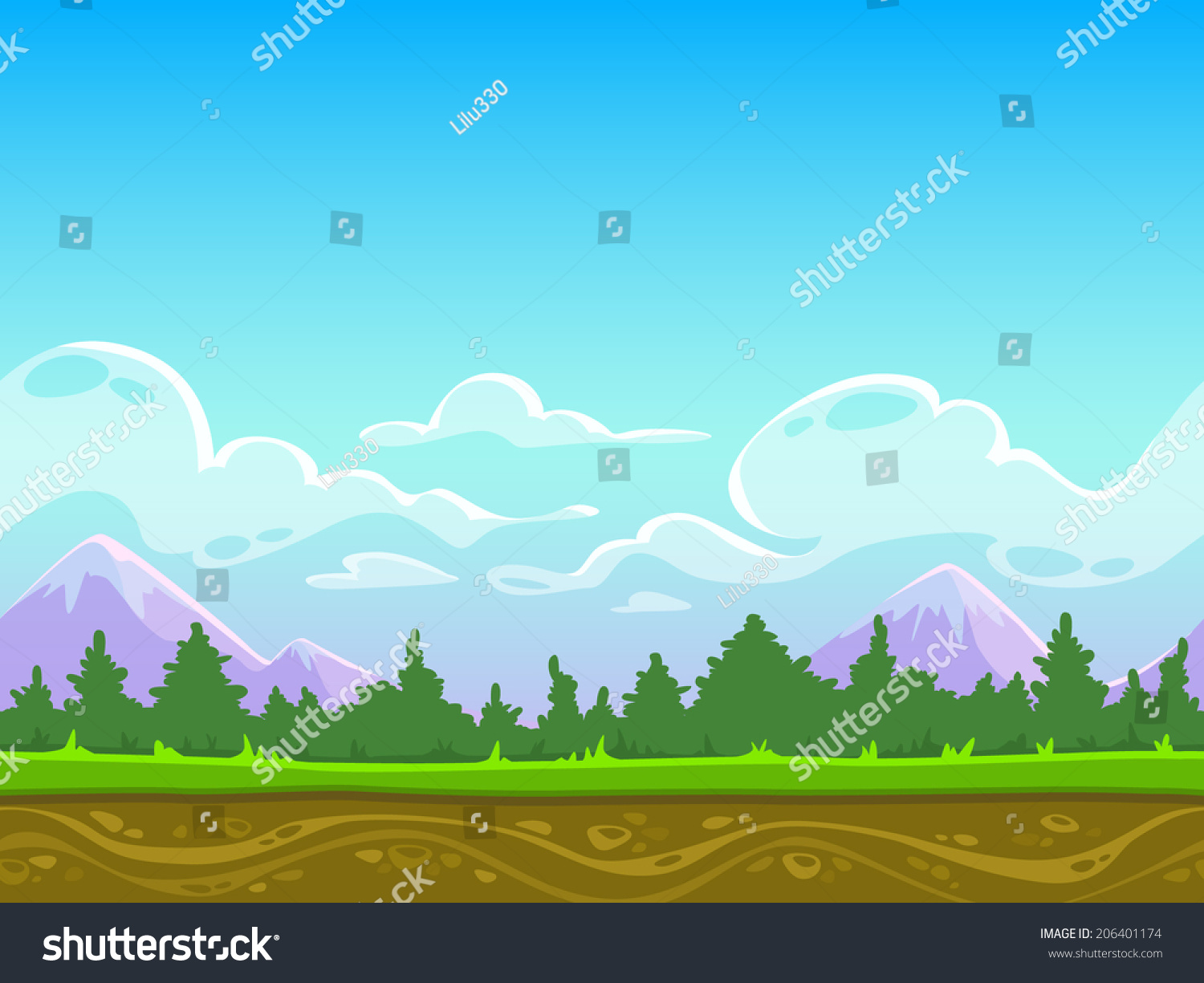 vector cartoon landscape backgroundsfree - photo #30