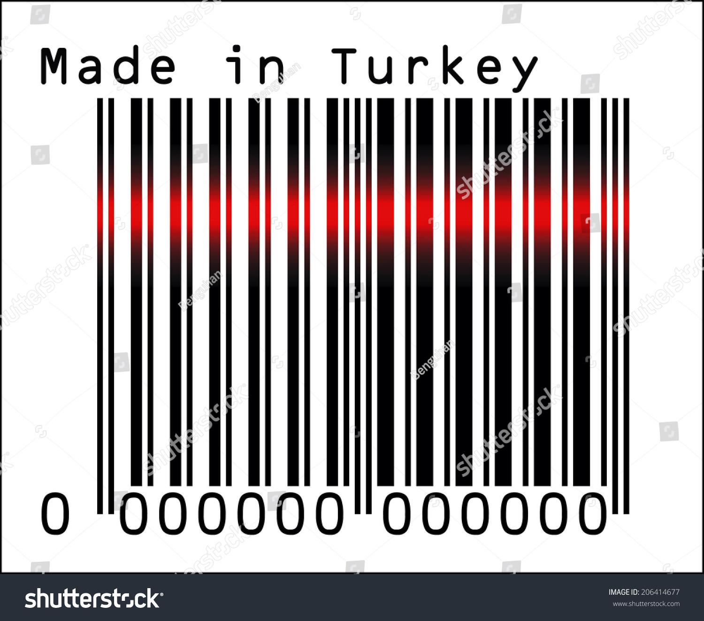 eps 10 vector illustration barcode bar stock vector 206414677
