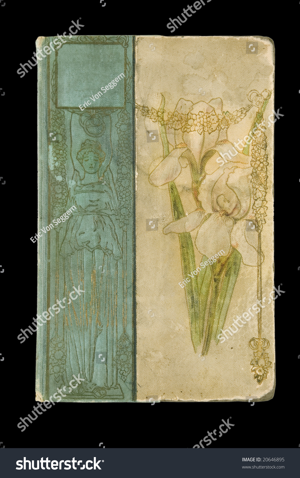 Book Cover Art Stock Images : Very old art nouveau book cover stock photo