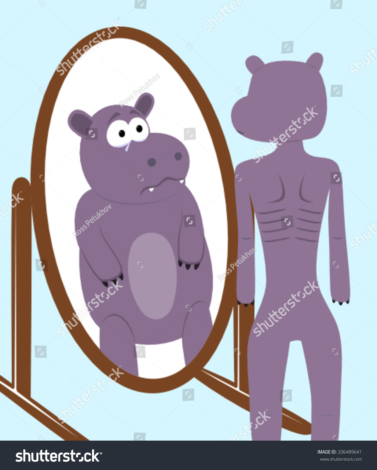 http://image.shutterstock.com/z/stock-vector-skinny-hippo-looking-at-the-mirror-and-seeing-a-fat-hippo-206489641.jpg