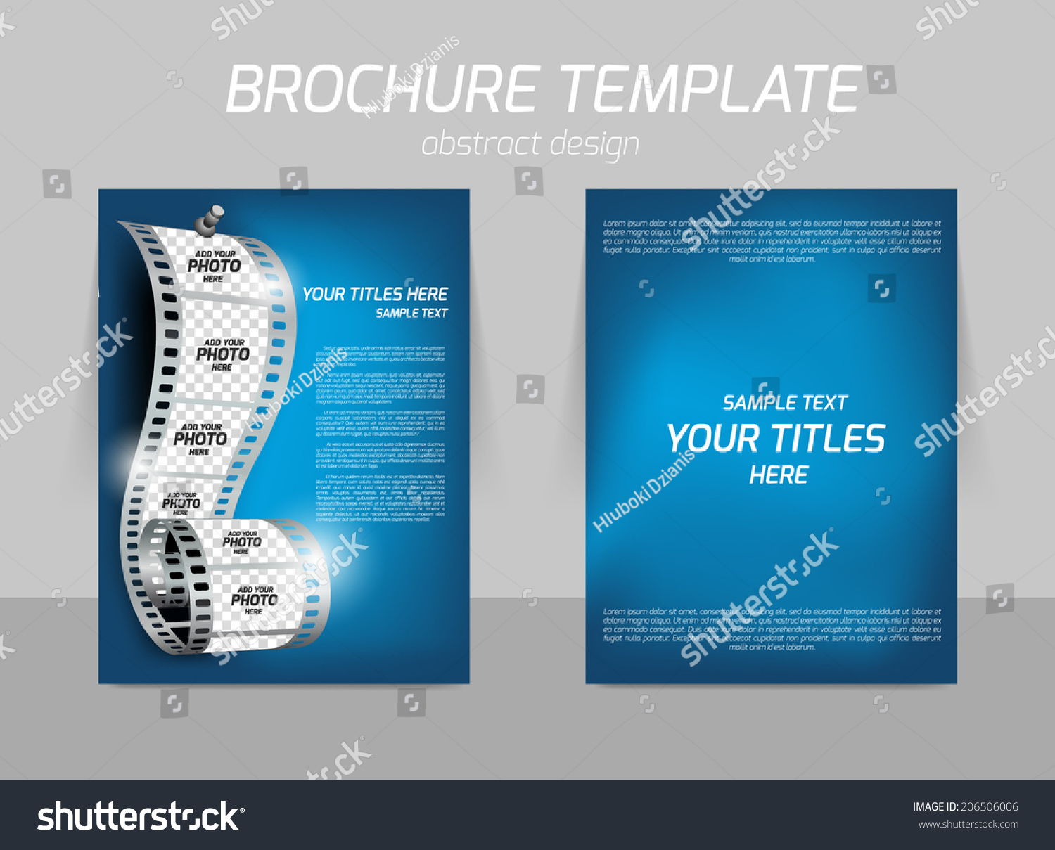 film reel on blue soft background stock vector 206506006 film reel on blue soft background for cinema flyer template design