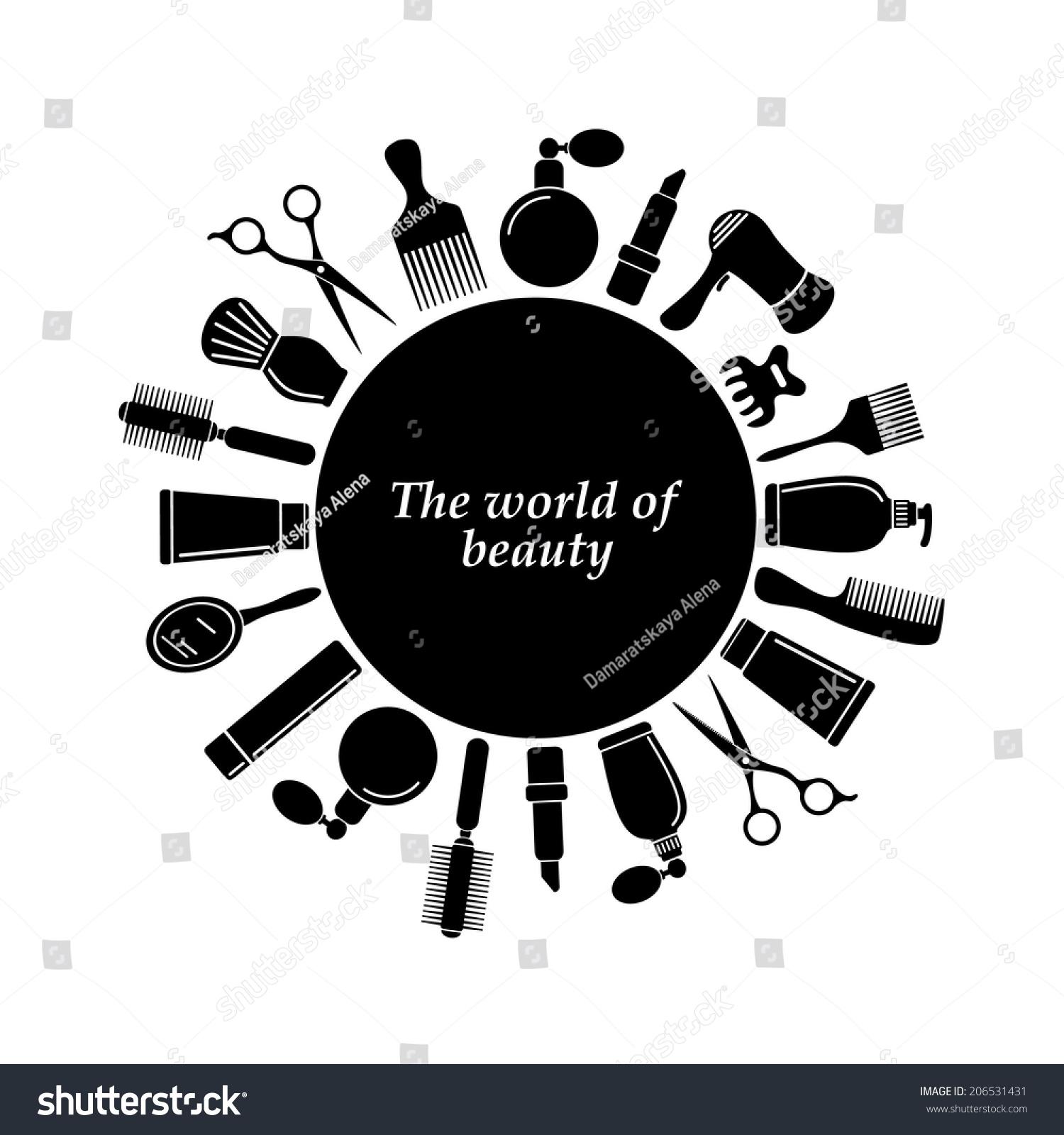 Hair Salon Logo Stock Vector 206531431 Shutterstock