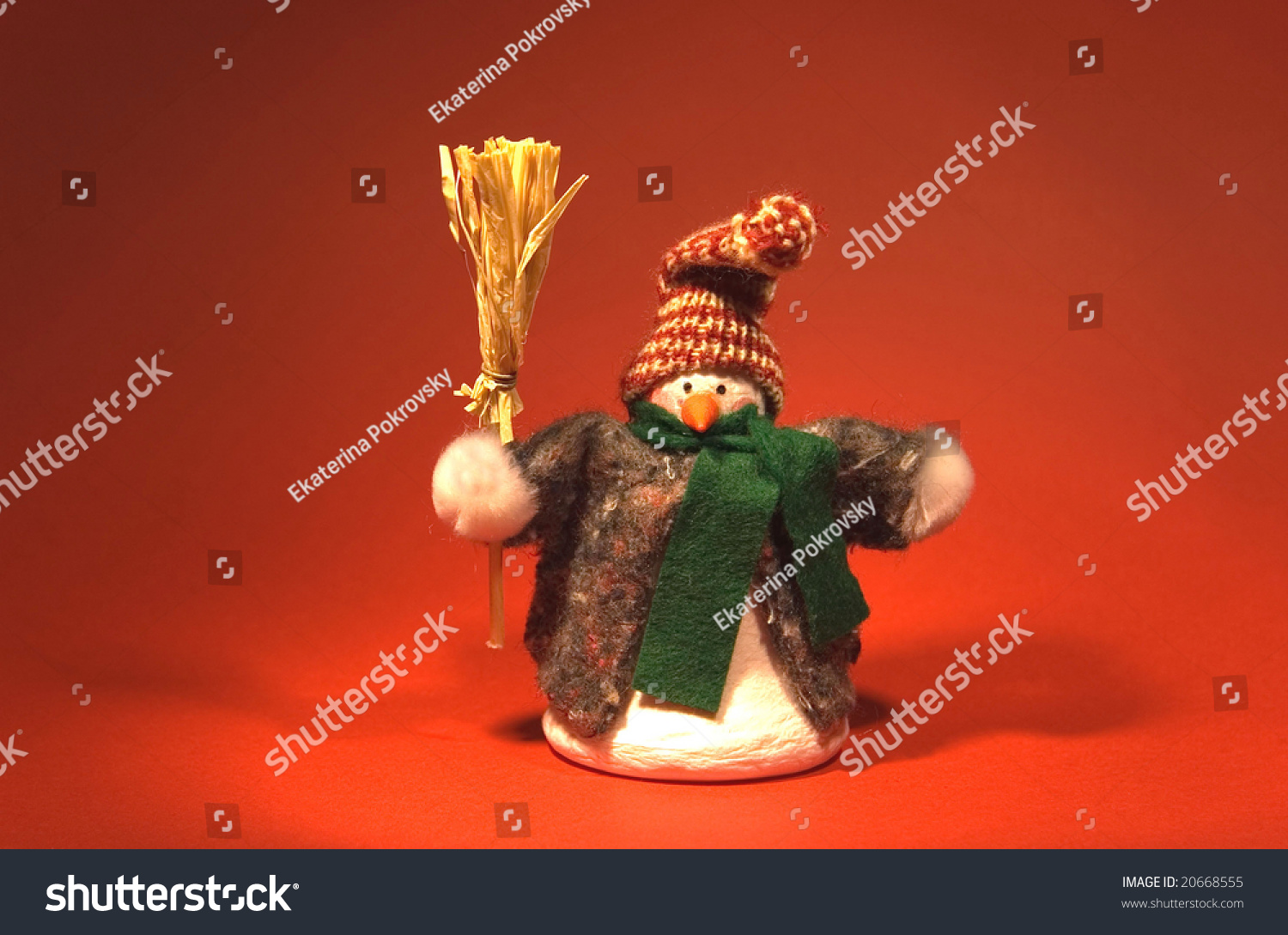 christmas decoration funny toy snowman with a broom - Christmas Broom Decoration