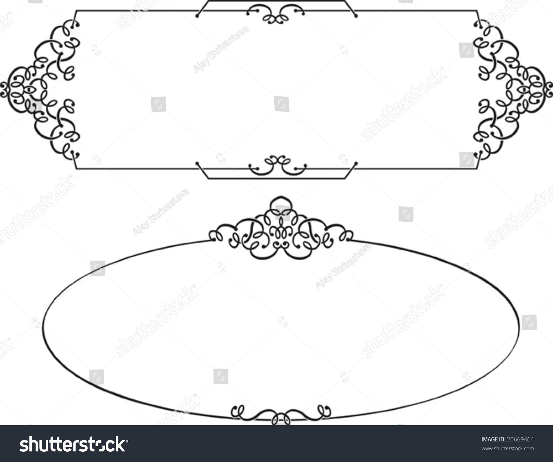 calligraphic border frame designs