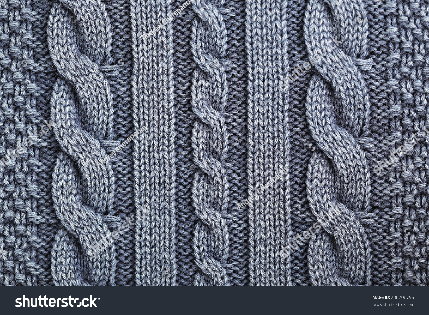 Knitting Background Texture : Unusual abstract blue knitted pattern background texture