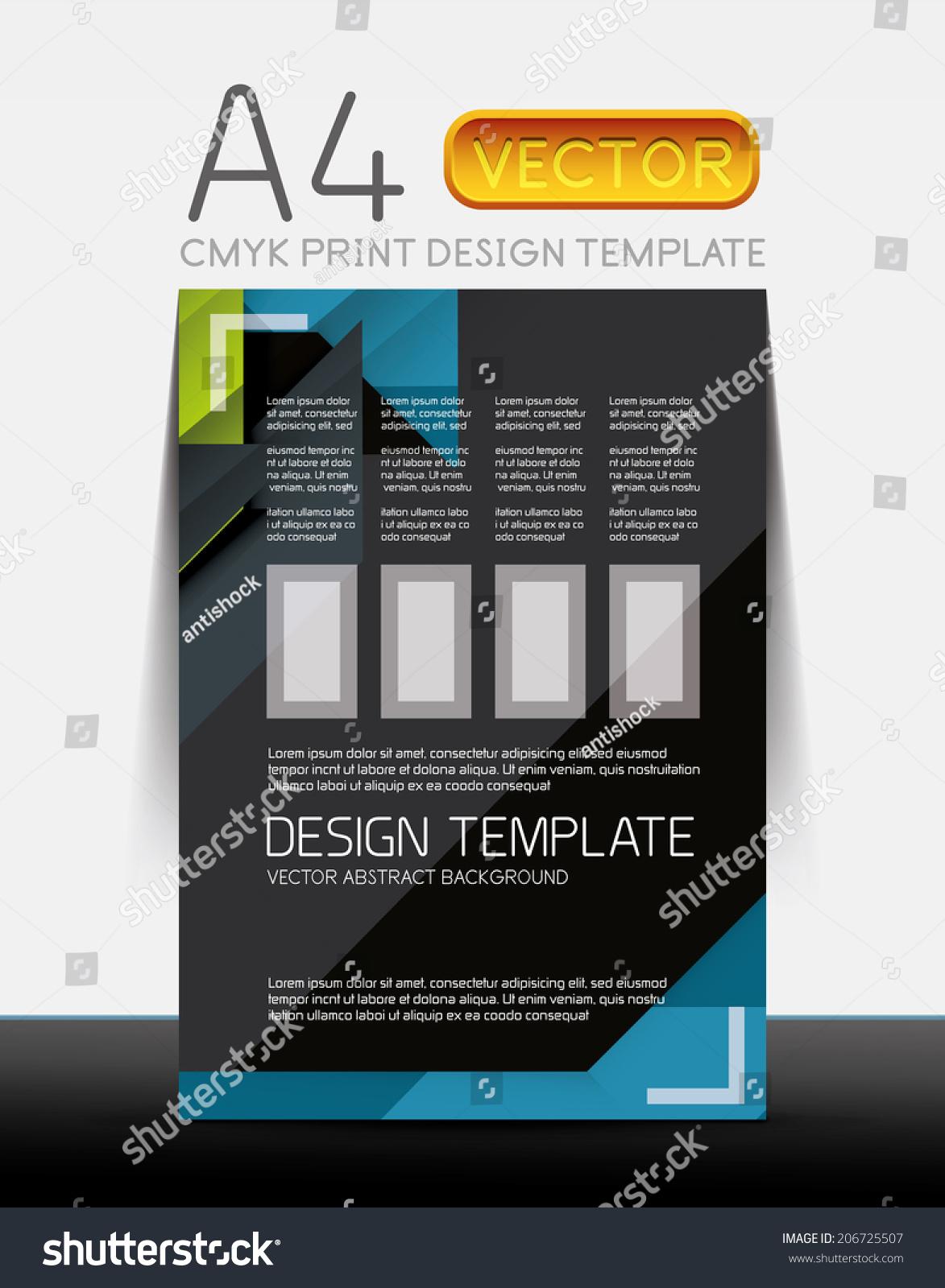 Sample El Brochure   Abstract Modern Flyer Brochure Vector Design Template With Sample