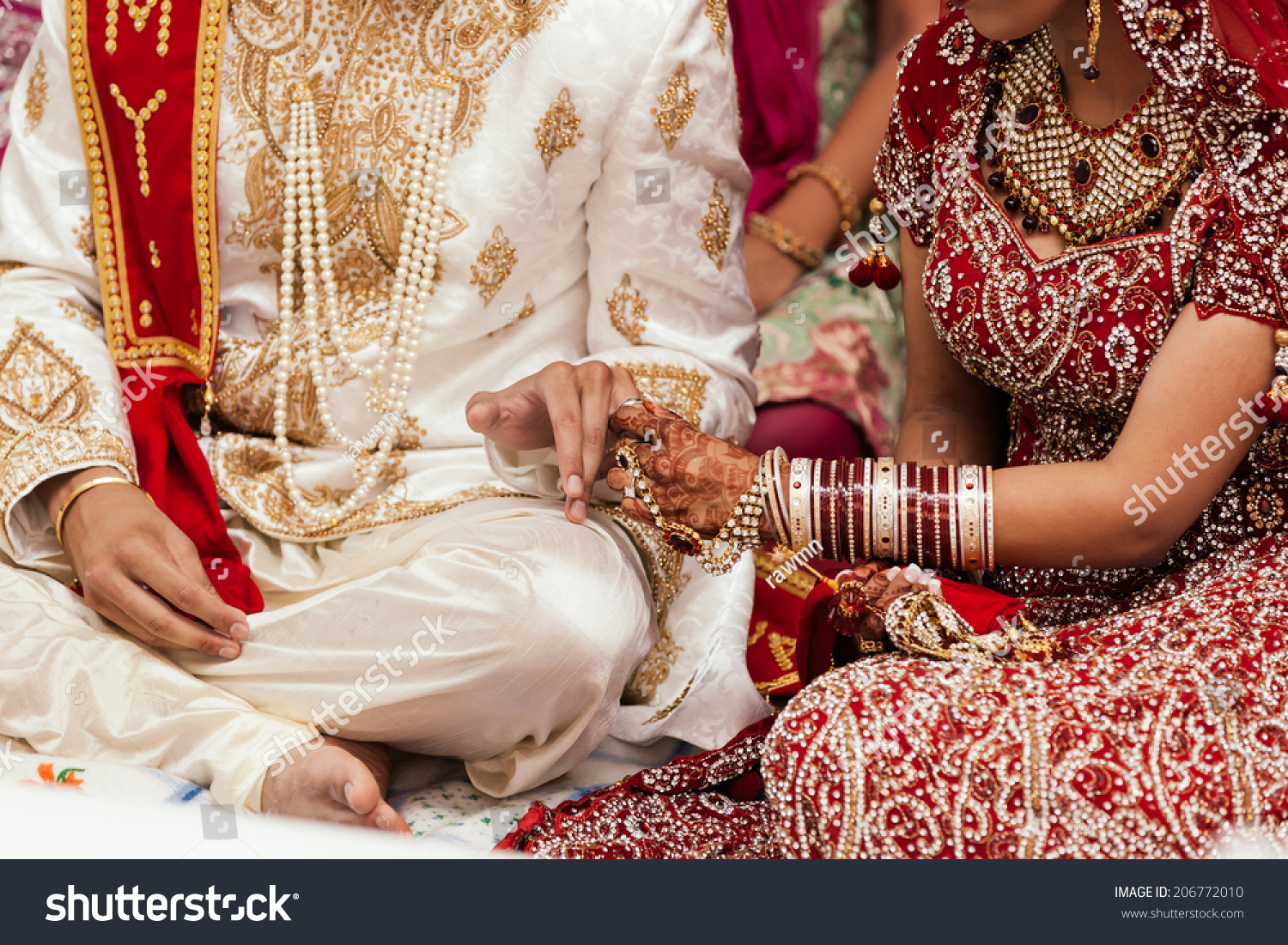wedding rings at the indian ceremony - Indian Wedding Rings