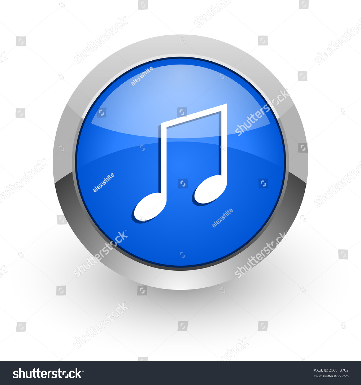 Music Blue Glossy Web Icon Stock Photo 206818702 ...
