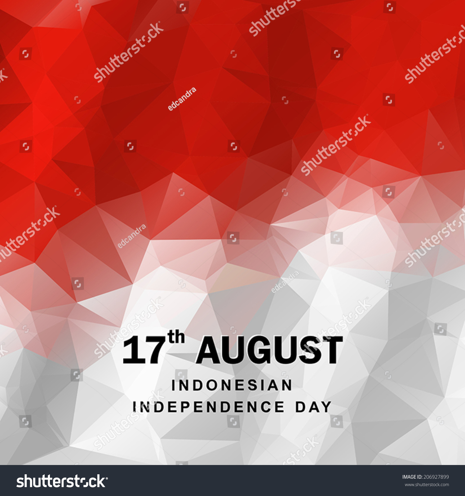 Indonesian Flag In Geometric Style. Vector Illustration ...
