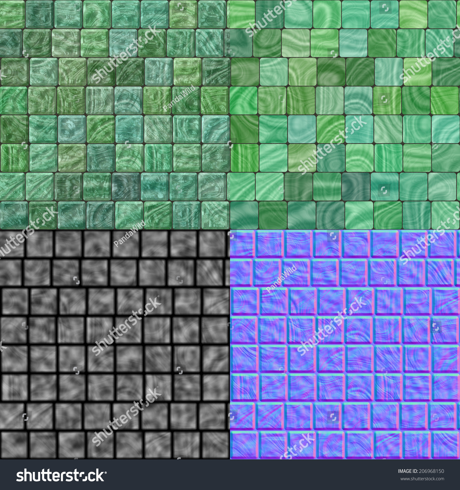 Glass tiles seamless generated hires texture stock for Floor normal map