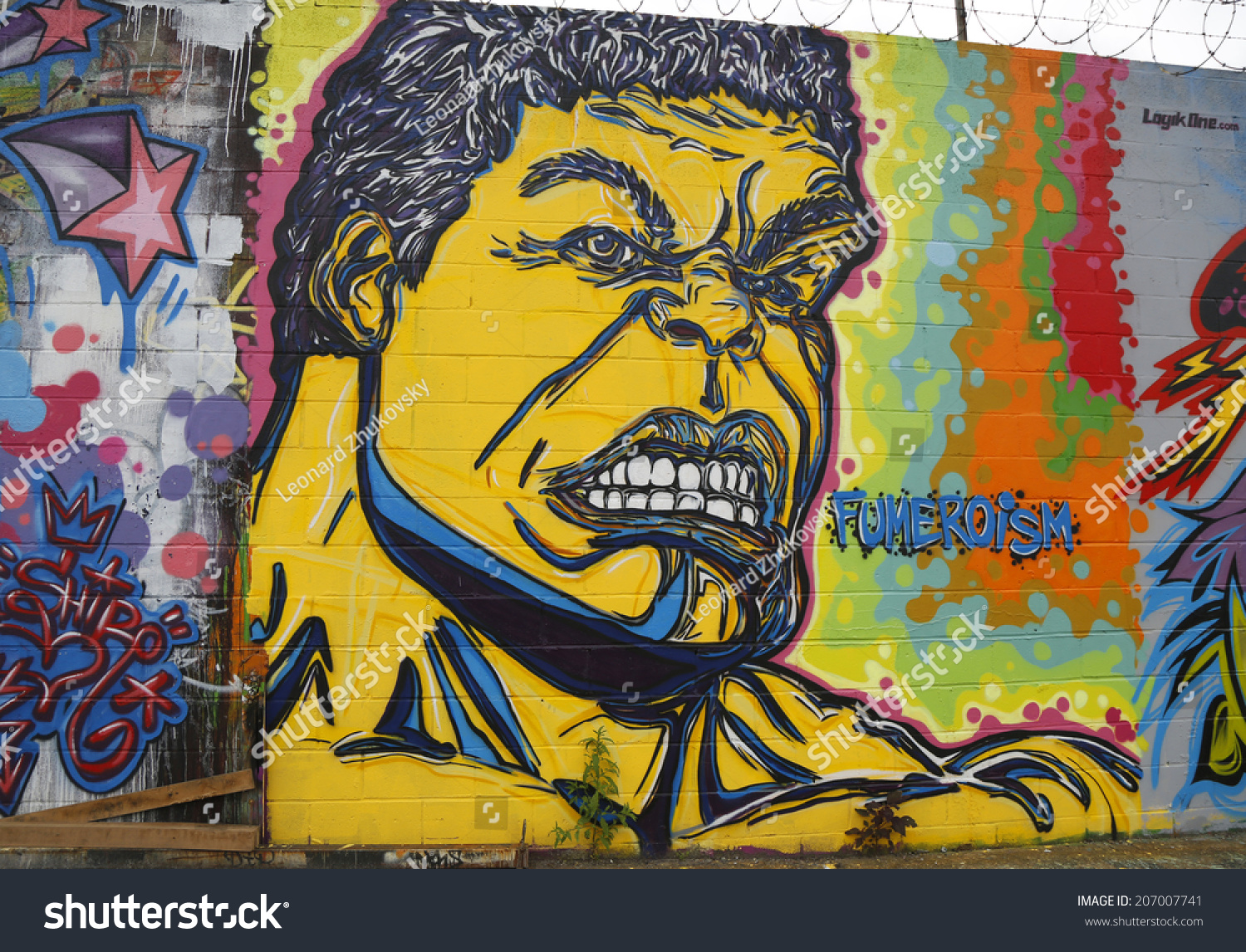 NEW YORK - MARCH 24, 2015: Mural art in Astoria section of Queens. A ...