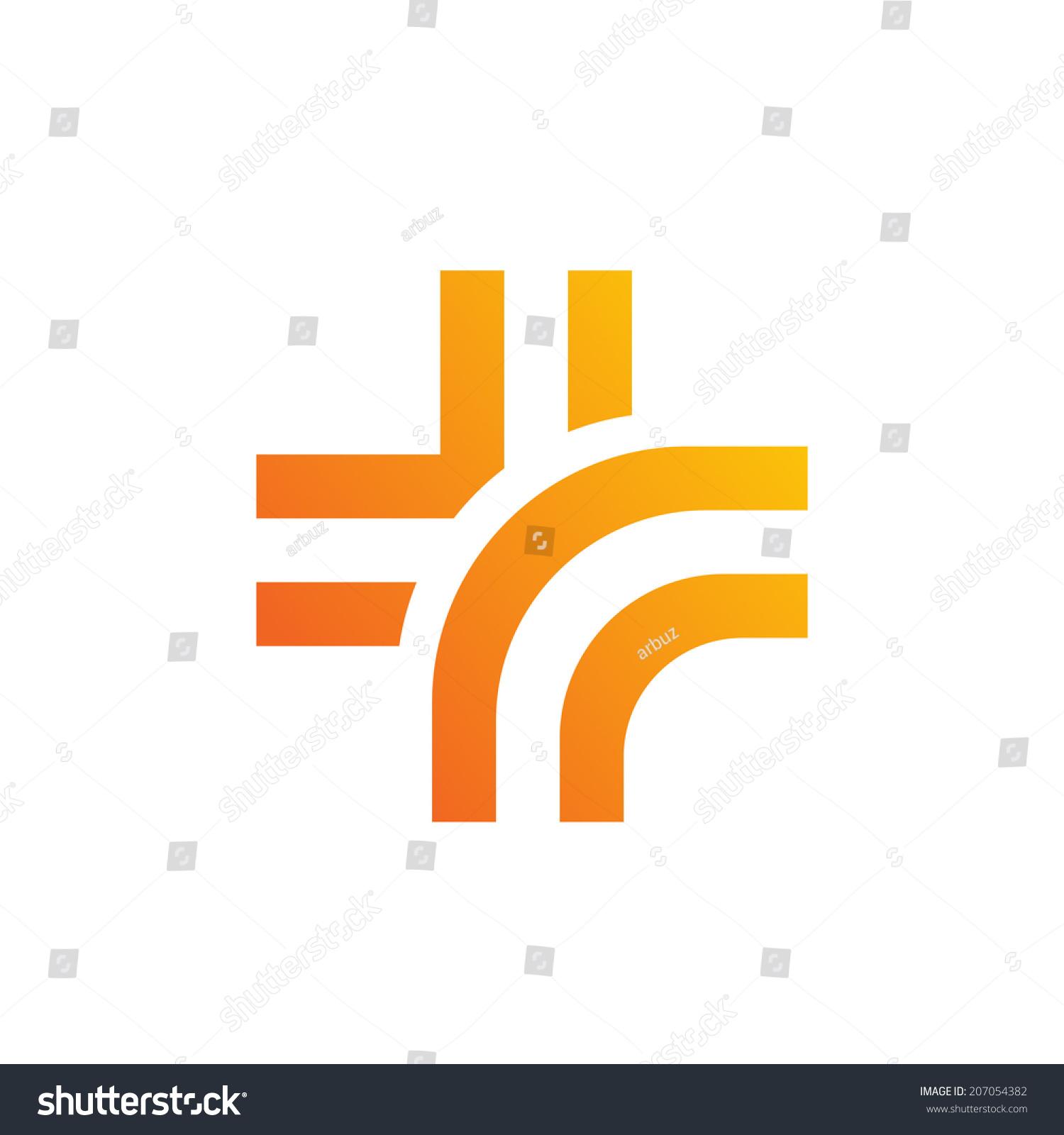 Medical Logo Design Template Icon Cross Stock Vector