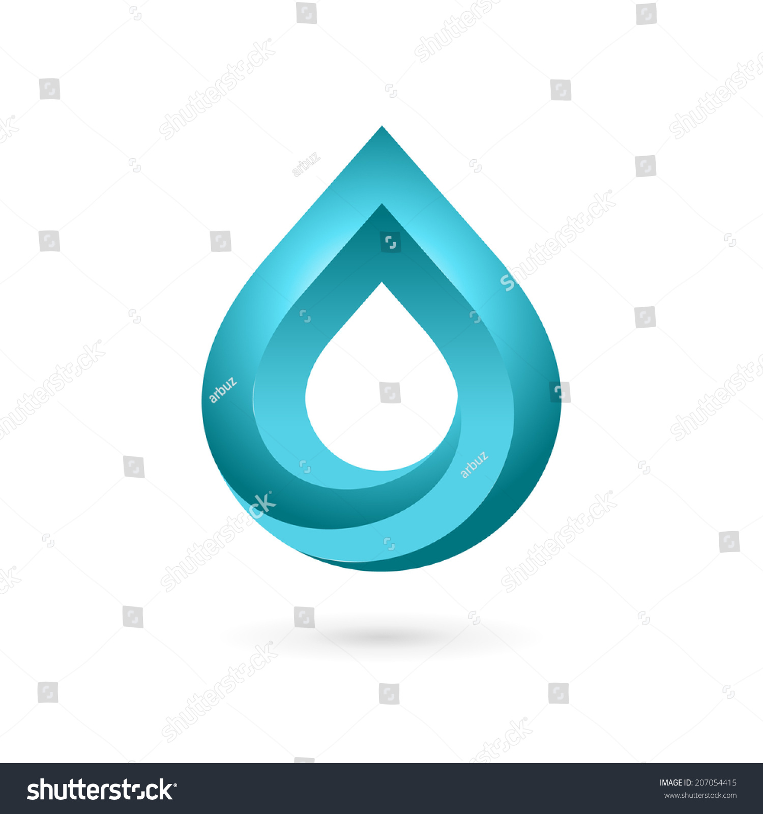 Water drop symbol logo design template stock vector 207054415 water drop symbol logo design template icon may be used in ecological medical biocorpaavc Image collections