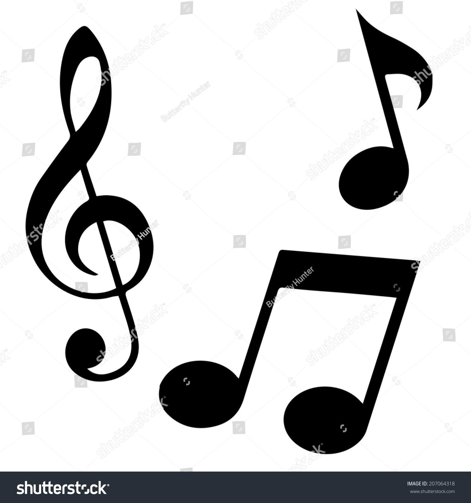 Black Music Note Isolated On White Background Ez Canvas