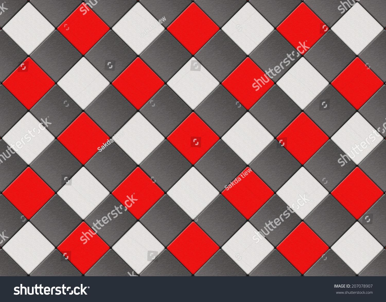 Black Red White Checkered Floor Tiles Stock Photo Edit Now