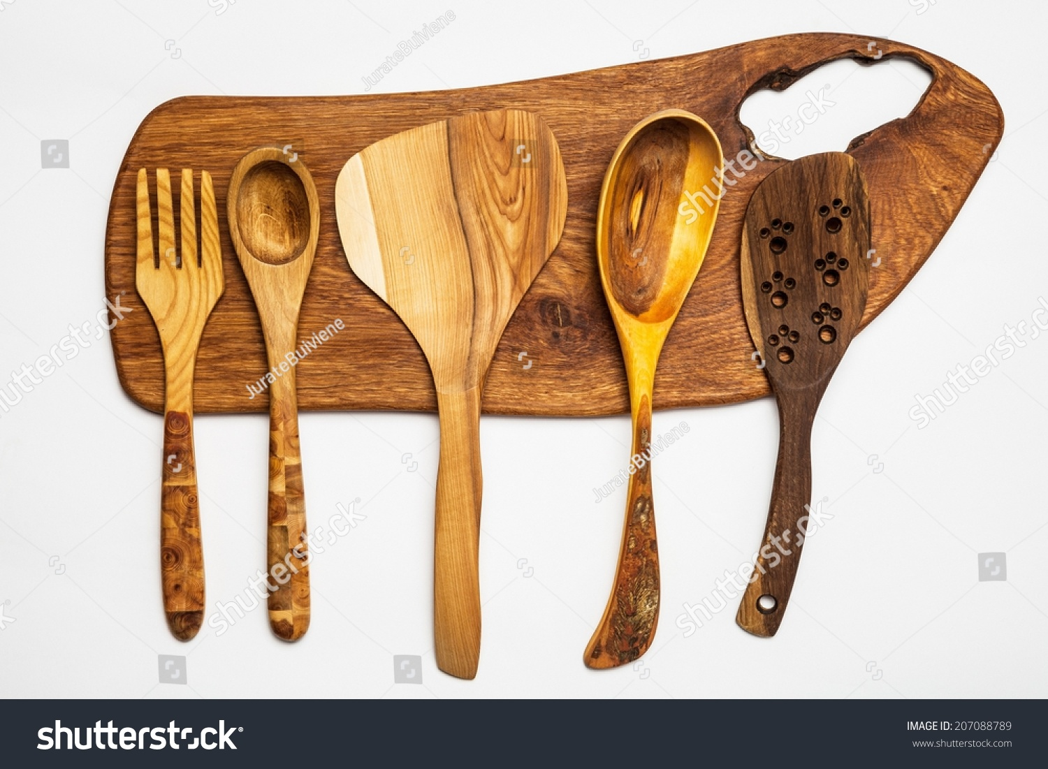 Wood Kitchen Equipment : Kitchen equipment wooden cutting board tools stock photo